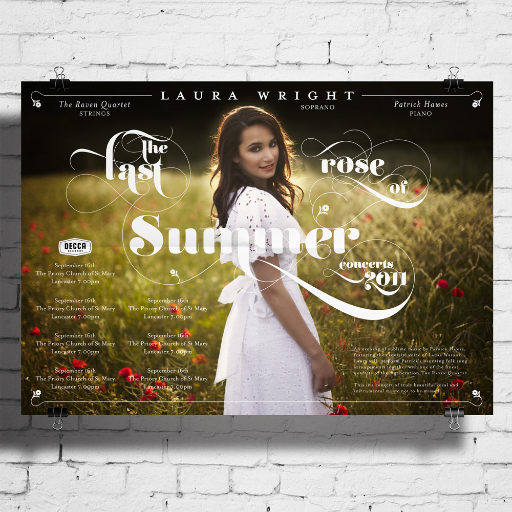 Laura Wright tour poster